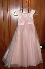 1960's Vtg  Jr Bridesmaid/ Flower Girls Pink Dress Size ? Pre-Teen One Of A Kind
