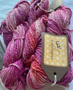 Araucania Yarns Patagonia 97.5 Meters Hand Dyed Cotton Pink Salmon Shaded Yarn