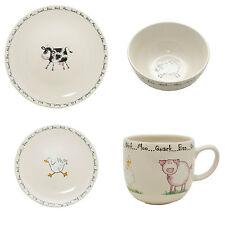 Home Farm 16 piece dinner service Hens Chicken Sheep Cow Pig plates bowls mugs