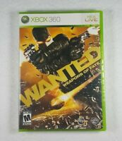 Wanted: Weapons Of Fate ( 2009, Xbox 360) OOP Rare HTF Sealed - Free Shipping!