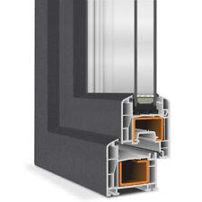 Fenster 2 fach BxH 100x120 cm 2-flügliges Stulpfenster innen/außen Anthrazit