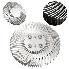 1pc Round Spiral Aluminum Heat Sink Radiator 90*10mm For 10W High Power LED Lamp
