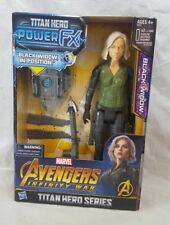MARVEL Avengers INFINITY WAR Titan Hero Series BLACK WIDOW power FX 2017 doll