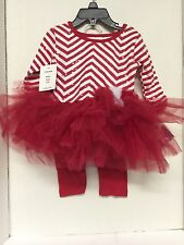 Blueberi Boulevard Girls Christmas Outfit Candy Cane 12 Months Tutu Pants $44VAL