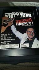 Roger Whittaker 1987 Europe Tour Rare Original Promo Poster Ad Framed!
