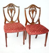 Pair of Vintage Hepplewhite Mahogany Shield Back Chairs [5224BR]