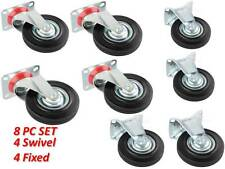 """Caster 4"""" 4PC Swivel Caster Wheel/Ball Bearing + 4PC Fixed Caster"""
