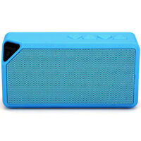 Enceinte Portable Bluetooth Sans Fil USB Lecteur Carte Radio FM LED / Bleu