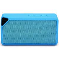 Enceinte Portable Bluetooth Sans Fil USB Lecteur Carte Radio FM LED / Bleu