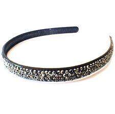USA Handmade Headband Rhinestone Crystal Hairband Hairpin Bling Gray B02