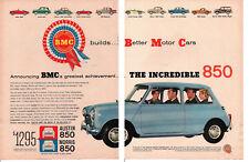 1960 MORRIS 850 / AUSTIN 850 ~ ORIGINAL BMC 2-PAGE AD
