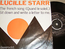 "7"" - Lucille Starr / French Song & Sit down and write a Letter to me - Dutch"