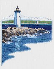"White Lighthouse Cross Stitch Kit - 7"" x 9"" - Janlynn - 14 Count"