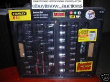 NEW Stanley 61-pc Socket SET Laser Etched SAE MM wCASE
