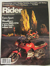 Rider Magazine January 1987 Honda Yamaha Kawasaki Harley BMW Moto Guzzi LeMans