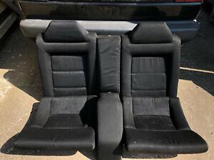 VW Corrado complete Rear Seat Bench Black VR6, G60, 16v Rare fabric