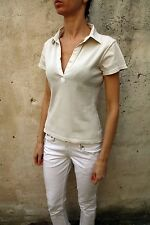 NORTH SAILS NS Lady SHORT SLEEVE POLO T-SHIRT TOP STRETCH Light Brown Sailing S
