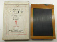"5x7""Film Pack Adapter - Seneca Hingeless with Darkslide and Box - VINTAGE LF07"