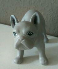 Französische Bulldogge Figur Statue  Grau Dekorationsfigur 13x7x9,5cm