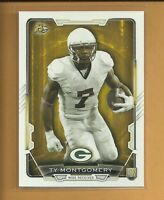 Ty Montgomery RC 2015 Bowman Rookie Card # 51 Green Bay Packers New York Jets