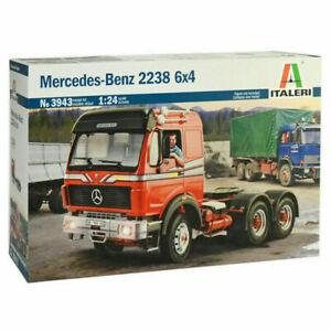Italeri Mercedes-Benz 2238 6x4 Truck 1:24 Scale Kit Model Set 3943