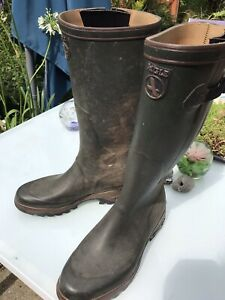 Aigle Parcours Rubber Wellington Boots Size 10 / Eu 45