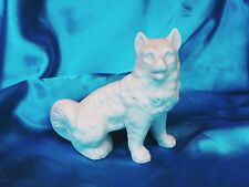 Victorian Staffordshire Antique Spitz White dog Samoyed Eskimo dog *