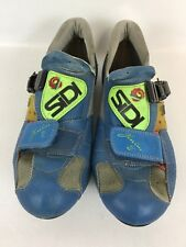 SIDI Genius 2 Men's road Bike Shoes size 41 US 7 Blue/Neon Yellow E3