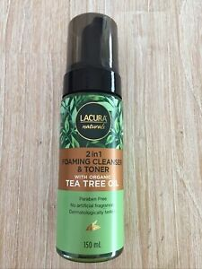 Lacura Naturals 2 in 1 Foaming Cleanser and Toner with Tea Tree Oil