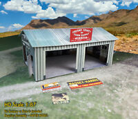 HO Scale 1:87 Shed Building - Pre-Cut & Pre-Scored CARDSTOCK PAPER kit WSH1