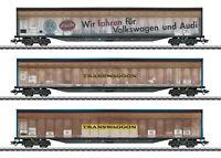 """Märklin H0 48063 Schiebewandwagen-Set DB AG """"Transwaggon"""" Neuheit 2019 NEU + OVP"""