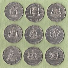AUSTRALIA:-QE II.9 Different state 50cent coins centenary of Federation AP78106