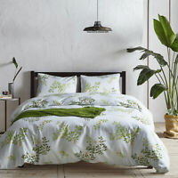 3Pcs/set Floral Duvet Cover Bedding Set with Pillowcase, Twin Queen King Size