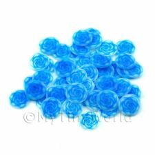 2x 50 Fimo Blue Rose Nail Art Cane Slices (ns74)