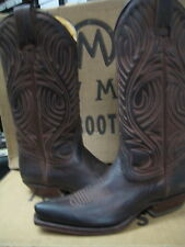 Tony Mora Womens Brown Nubuk Brush Leather Western Boot 3389 Size US 4  M New