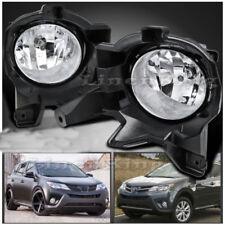 2013-2015 Toyota RAV4 Clear Bumper Fog Lights Driving Lamps+Bulbs+Switch FL7001