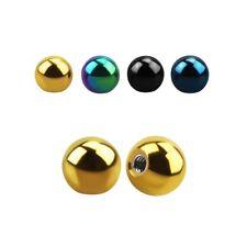 1,6 mm Ø Schraubkugel, Piercingkugel Ball- Ersatz -Chirurgenstahl diverse Farben