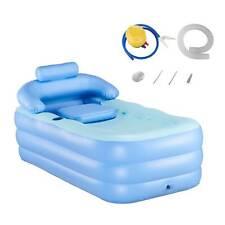 Aufblasbare Badewanne Schwimmbad mit Nackenkissen Fußluftpumpe Erwachsene Kinder