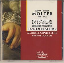 Molter - Veilhan: 6 Concertos for clarinet (1992, Pierre Verany) Like New