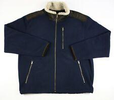 Orvis Blue Fleece Sherpa Lined Collar Zip Up Jacket Size Large