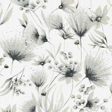 2,74€//1qm Vliestapete Blüten Floral beigecreme schwarz Glanz P+S Polar 13523-50