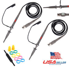 NEW 2x Oscilloscope Probe Scope Clip Test Cable Lead Kit 1X/10X Switchable USnix