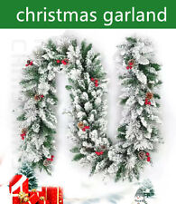 6/9FT Christmas Garland  Snow Pine Artificial Fireplace Decorations