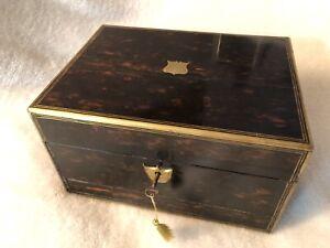antique Victorian Coromandel Sewing Box