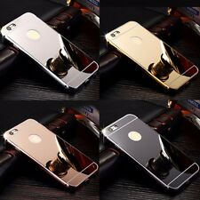 NEW Aluminum Luxury Ultra-thin Mirror Metal Case Cover for iPhone 4 5 6 7 7Plus