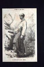 Figurini di minatori - Il minatore del Chilì Incisione del 1869
