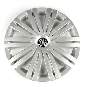 Silver Wheel Covers 15'' Caps Hub For Volkswagen Golf Polo