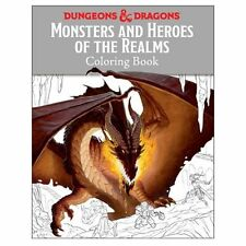 Adult Coloring Book * Dungeons & Dragons - Monsters and Heroes of the Realm *NEW