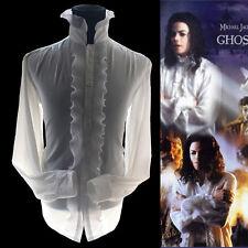 MJ Michael Jackson Ghost White Reyon Poplin Classic Shirt Skeletons Halloween