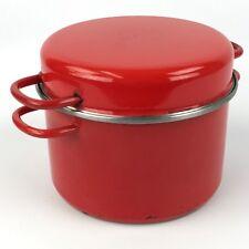 Braun & Kemmler Red Enamel 4 Quart Stock Pot With Matching Lid Domus Linie
